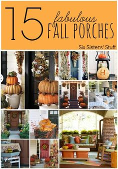 15 Fabulous Fall projects from Six Sisters
