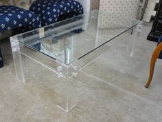 Vintage Modern Lucite Coffee Table