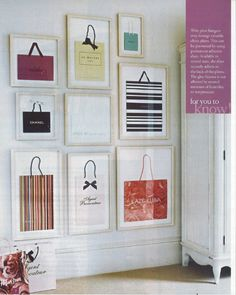 Framed shopping bags.