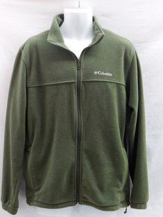 Columbia Men's Zip Front  Fleece Jacket Top L Green #Columbia #FleeceJacket