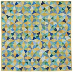 Kaleidoscope Quilt made by Ellen Luckett Baker for school auction project. Fabric was hand-dyed by almost 400 elementary school students.