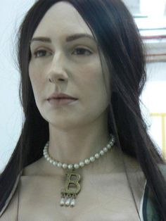Facial reconstruction of Queen Anne Boleyn by Emily Pooley. Interesting. For some reason I always had her pictured in my mind as looking like Reese Witherspoon?!