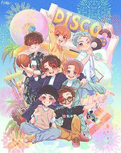 Foto Bts, Bts Photo, Jimin Fanart, Kpop Fanart, Hoseok Bts, Bts Bangtan Boy, Bts Anime, Bts Christmas, Bts Book