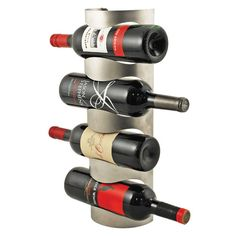Vector Hanging Bottle Rack Add organization and sophistication to your wine collection with this wall-mounted wine rack. Fits most standard wine bottles. Wine Bottle Rack, Bottle Wall, Wine Rack Wall, Wine Bottles, Contemporary Wine Racks, Modern Wine Rack, Wine Gift Baskets, Wine Collection, Wine Storage