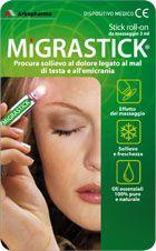 Migrastick è uno stick pratico ed elegante che offre un sollievo immediato al mal di testa causato da stress, fatica o tensione. Migrastick agisce subito dando una piacevole sensazione di freschezza e sprigionando una gradevole fragranza. Una sinergia di oli essenziali di menta e lavanda, sono questi i segreti, 100 % naturali, di Migrastick.