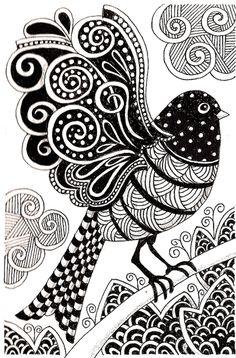Galerie de coloriages gratuits coloriage-adulte-oiseau-sombre.