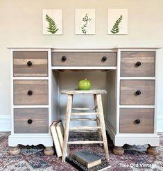Seagull Gray and Ash Gray Desk | General Finishes Design Center
