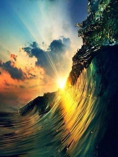 sun ocean #wave #water
