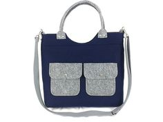 Handbag Felt purse Bag for women Navy blue bag Felt bag Designer handbag Felt shoulder bag Modern