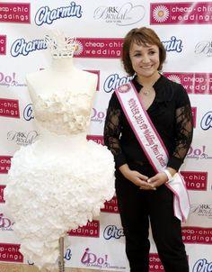 Mimoza Haska wins 9th annual Cheap Chic Weddings Toilet Paper Wedding Dress Contest