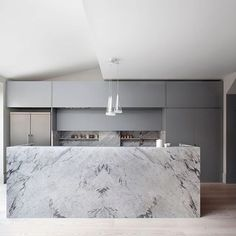 Grey and Marble Kitchen