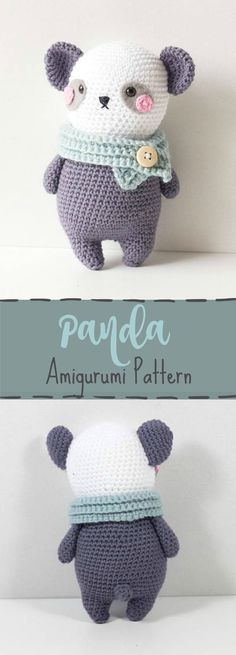 Crochet pattern Panda Bear Amigurumi, Amigurumi pattern Panda Bear, crochet tutorial Panda Bear, Stuffed Animal crochet pattern Panda ...#affiliate