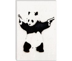 Panda With Guns by Banksy  Giclee Poster