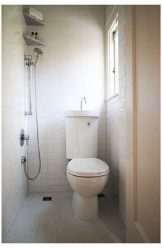 Small Wet Room, Very Small Bathroom, Tiny Bathrooms, Tiny House Bathroom, Master Bathroom, Simple Bathroom, Downstairs Cloakroom, Small Sink, Bathroom Mirrors