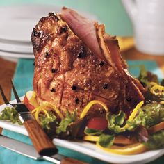 Traditional Easter Dinner Recipes: Citrus Glazed Ham - Traditional Easter Dinner Recipes - Southern Living