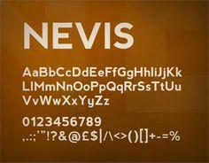 Nevis font by Ten by Twenty - FontSpace
