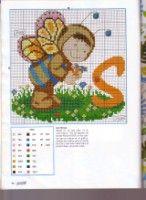 Baby in Costume Alphabet Cross Stitch Patterns B Cross Stitch For Kids, Cross Stitch Baby, Cross Stitch Alphabet, Cross Stitch Patterns, Abc For Kids, Kids Patterns, Baby Costumes, Crochet For Kids, Cross Stitching