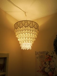The white one is a lamp shade i covered with venise(or venice i\'ve ...