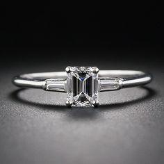 J. E. Caldwell Mid-Century Emerald-Cut Diamond Ring - 10-1-5983 - Lang Antiques