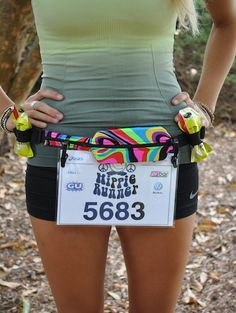 FRAC BELT - Hippie Runner. Best running belt! Or for bike riding, or horseback riding doesn't move and holds everything you need!