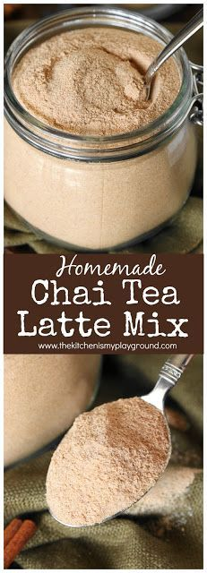 Chai Tea Latte Mix ~ It's easy to make your own flavorfully delicious Chai Tea Latte mix at home. All it takes is a few simple ingredients & a whirl in a food processor! #chai #chaispice #chailatte #Christmasgifts #Christmasgiftsfromthekitchen www.thekitchenismyplayground.com