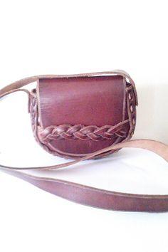Réduit ! Sac à main pochette Vintage cuir lourd / Vintage sacs / sacs à main Boho Chic by JulesCristenVintage on Etsy