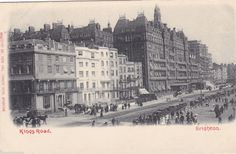 KINGS ROAD, BRIGHTON - PRE 1918 STREET SCENE POSTCARD (ref 3389) in Collectables, Postcards, Topographical: British | eBay