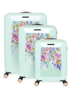 LOVE LOVE LOVE this large medium and small sugar sweet floral suitcase - Pale Green | Bags | Ted Baker UK