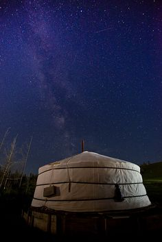 Ger Under the Stars in Mongolia