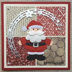 LindaCrea: Kerst 2016 - Santa & Rudolph