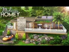 Sims 4, Couples, Modern, House, Buildings, Youtube, Trendy Tree, Home, Couple
