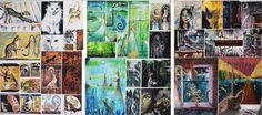 NCEA painting folio by on DeviantArt High School Art, Art Portfolio, Art Boards, New Art, Egyptian, Level 3, Deviantart, Portrait, Illustration