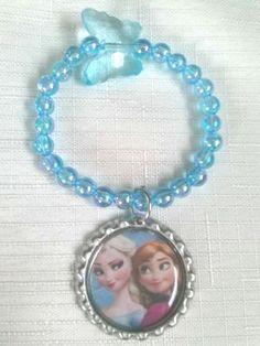 10 Blue Frozen Party Favors Bracelets on Etsy, $15.00