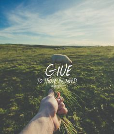 Give to those in need