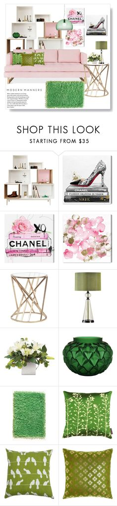 """Spring is here #2"" by hancicaf on Polyvore featuring moda, Muuto, Oliver Gal Artist Co., Universal Lighting and Decor, Lalique, Home Decorators Collection, Clarissa Hulse, Rizzy Home i Kartell"