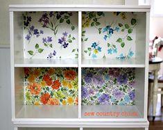 wallpaper cubbies! I love it