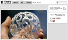 Print3d World: Mediabistro Launches 3D Prints Of The World