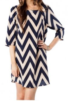 chevron navy & ivory!