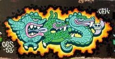 Wall painting Graphiti tags art | 2560x1