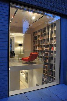 library + loft + ladder