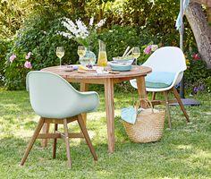 99,95 € Gartenmöbel für mehr Komfort  Bequeme Stühle sind auch im Garten unverzichtbar. Dieser Stuhl hat eine Sitzschale aus hochwertigem Kunststoff, die Beine sind aus Eukalyptusholz FSC® 100% gefertigt.
