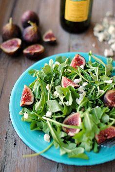 Arugula, Fig & Blue Cheese Salad