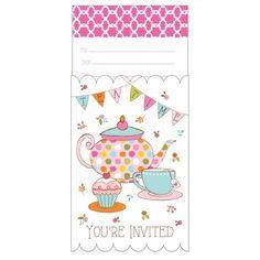 uitnodiging high tea feestje