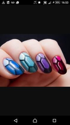 Reminds me of Bejweled. These gorgeous nails are just so easy to do its unreal.