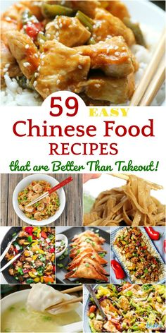 59 Easy Chinese Food Recipes that are Better Than Takeout! #recipes #chinesefood #food #foodie #getinmybelly Homemade Chinese Food, Easy Chinese Recipes, Mexican Food Recipes, Dinner Recipes, Ethnic Recipes, Good Chinese Food, Chinese Food Dishes, Healthy Chinese Food, Chinese Food Recipes Chicken