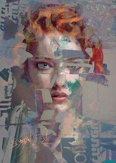 Collage Art, Collages, Guache, Portrait Illustration, Kirigami, Acrylic Painting Canvas, Portrait Art, Figurative Art, Painting Inspiration