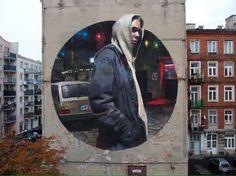 """Warszawa Wschodnia"" Varsavia, Polonia: nuovo pezzo dello street artist spagnolo Sebas Velasco. Credits foto: Maciej Krüger LINK UTILI: Sebas Velasco su questo blog   Website   Flickr  …"