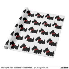 Holiday Home Scottish Terrier Wrapping Paper - Aug 28