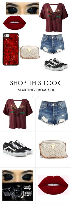 """2nd day of senior year"" by niasharp on Polyvore featuring Sans Souci, Free People, Vans and STELLA McCARTNEY"