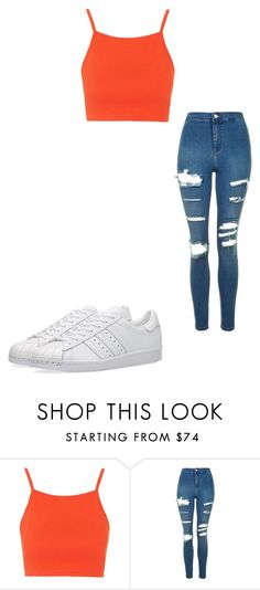 """""""Untitled #22"""" by clothing041 on Polyvore featuring Topshop and adidas"""